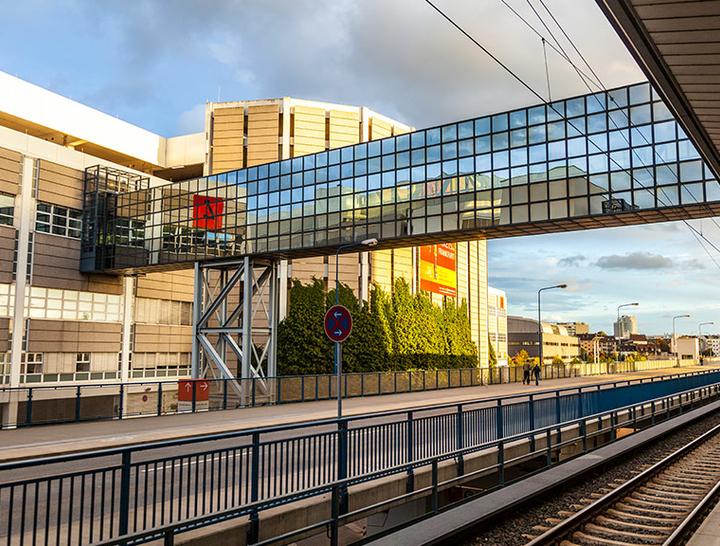Gebäude der Messe Frankfurt