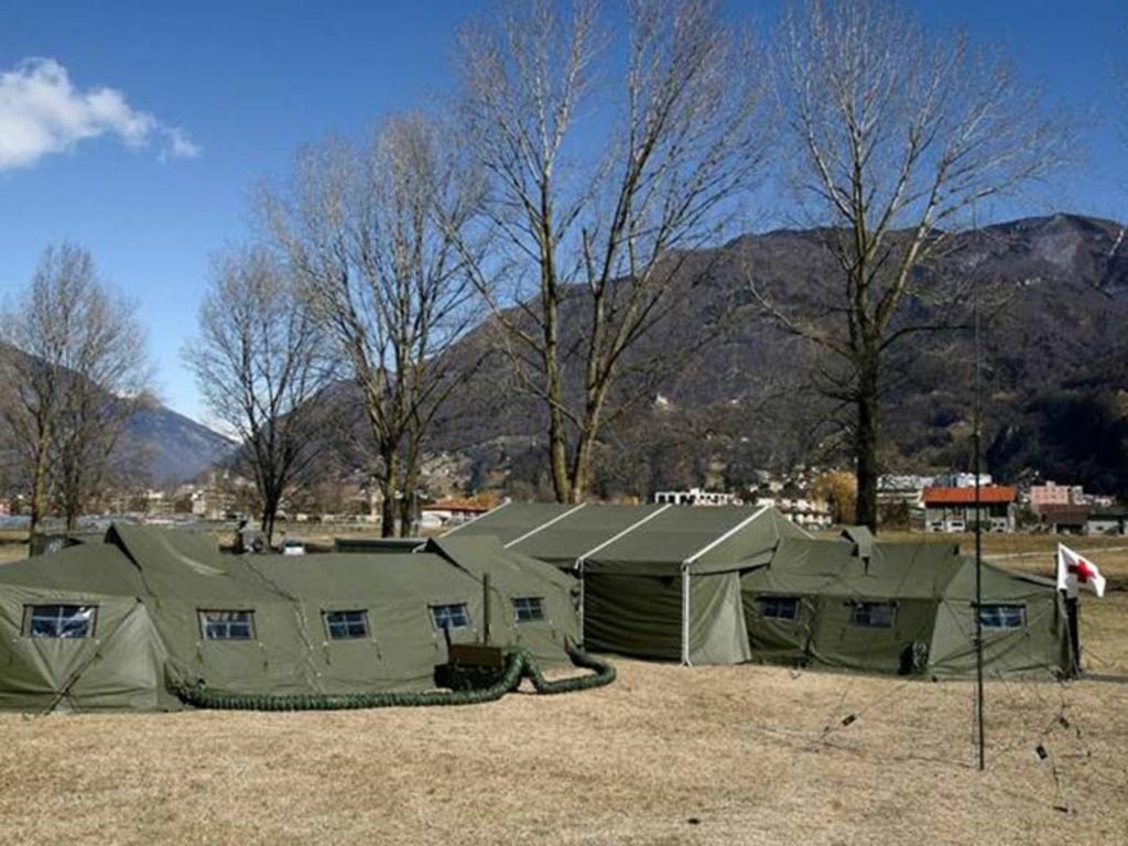 mobile Sanitätshilfsstellen (San Hist) der Schweizer Armee zur Erbringung der rettungsdienstlichen Versorgung